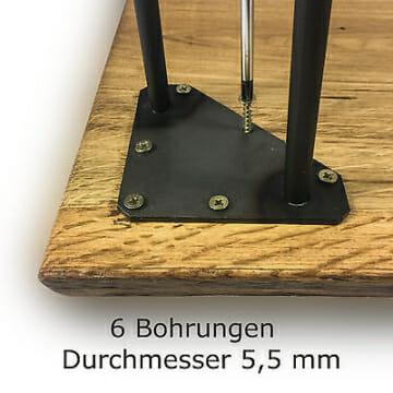 Hairpin Legs Haarnadelbeine Tischbeine mit 2 Stangen-6