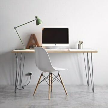 4 x Hairpin Legs Set - wählbar in 10cm bis 86cm Höhe & auswählbar mit 2 Stangen und 3 Stangen-4