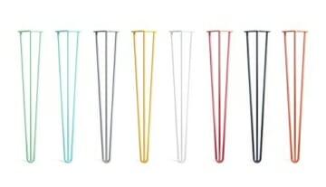 4 x Hairpin Legs Set - wählbar in 10cm bis 86cm Höhe & auswählbar mit 2 Stangen und 3 Stangen-8