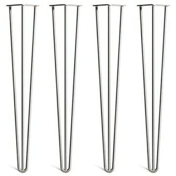 4 x Hairpin Legs Set - wählbar in 10cm bis 86cm Höhe & auswählbar mit 2 Stangen und 3 Stangen-2