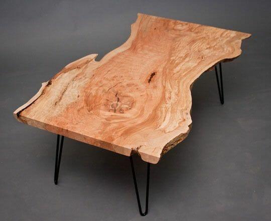 Hairpin Leg Tisch mit Holzplatte