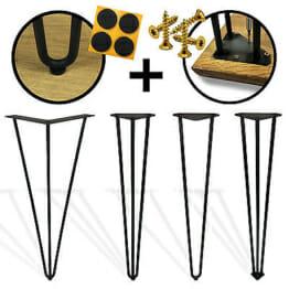 Hairpin Legs Haarnadel Tischbeine  2 Längen & 2 - 3 Stangen frei auswählbar - mit Bodenschutz wählbar-2