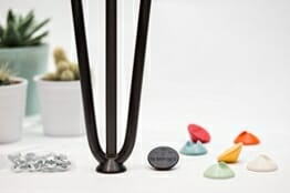 Tischbeinschoner für Hairpin Legs passend für alle Größen - viele Farben - Bodenschutz-2